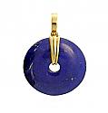 Lapis Lazuli Donut Pendant with 18K Gold Bail