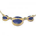 Lapis Lazuli and 18K Gold Round Module Semicollar
