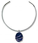 Sterling Silver and Lapis Lazuli Channeling Slider