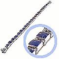 Sterling Silver Medium Module Hinge Bracelet