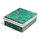 Square Malachite Box