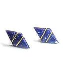 18K Gold Diamond Division Post Earrings