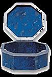 Lapis Lazuli Hexagonal Box