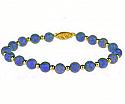 Lapis Lazuli and 18K Gold Beaded Bracelet
