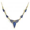 Lapis Lazuli and 18K Gold Ribbon Semicollar
