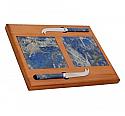 Lapis Lazuli and Oak Cheese Board