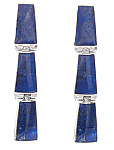 Sterling Silver and Lapis Lazuli Cascade Hanging Hinge Earrings