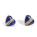 18K Gold Sculpted Heart Post Earrings