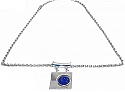 Sterling Silver and Lapis Lazuli Araucan Necklace