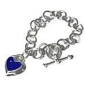 Sterling Silver and Oval Lapis Lazuli Cabochon Toggle Bracelet