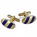 18K Gold and Lapis Lazuli Zebra Cuff Links
