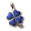 Mini Lapis Lazuli and Turquoise Yin Yang Charm