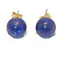 10 mm 18K Gold Post Bead Earrings