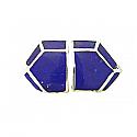 Sterling Silver and Lapis Lazuli Art Deco Chrysler Earrings
