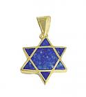Lapis Lazuli and 18K Gold Star of David Charm