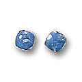Medium Single Stone Post Earrings