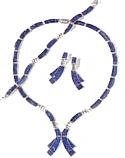 Double Ribbon Shaped Lapis Lazuli Set