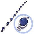 Chained Sterling Silver Big Module Bracelet or Anklet