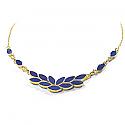 Lapis Lazuli and 18K Gold Ivy Leaves Semicollar