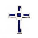 Sterling Silver and Lapis Lazuli St John Cross