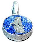 Lapis Lazuli Moai Charm