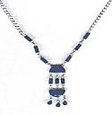 Lapis Lazuli Chandelier Semi Collar