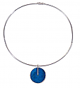 Sterling Silver and Lapis Lazuli Disc Necklace