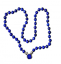 8 mm Lapis Lazuli Bead Necklace, 48 Inches L