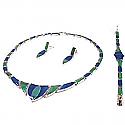 Big Stone Lapis Lazuli and Malachite Set