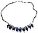 Sterling Silver and Lapis Lazuli Drops Semi collar